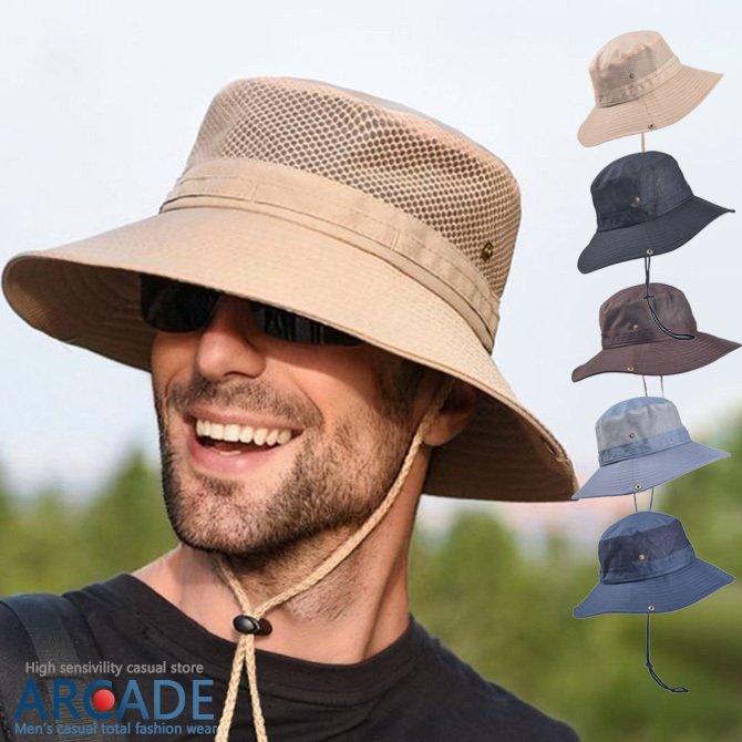 帽子 メンズ レディース ハット 大きい サファリハット アウトドアハット UVカット 紫外線対策 日よけ 折りたたみ 夏 新作