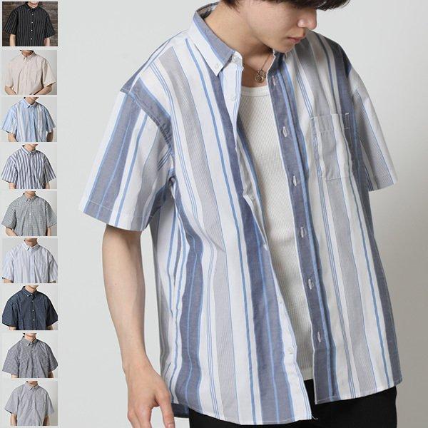 カジュアルシャツ 半袖シャツ メンズ ボタンダウンシャツ