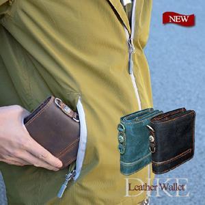 本革レザー二つ折り財布
