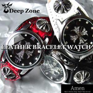メンズ腕時計/レザーブレスレット/ウォッチ